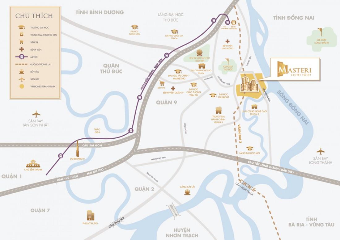 sơ đồ địa chỉ masteri centre point