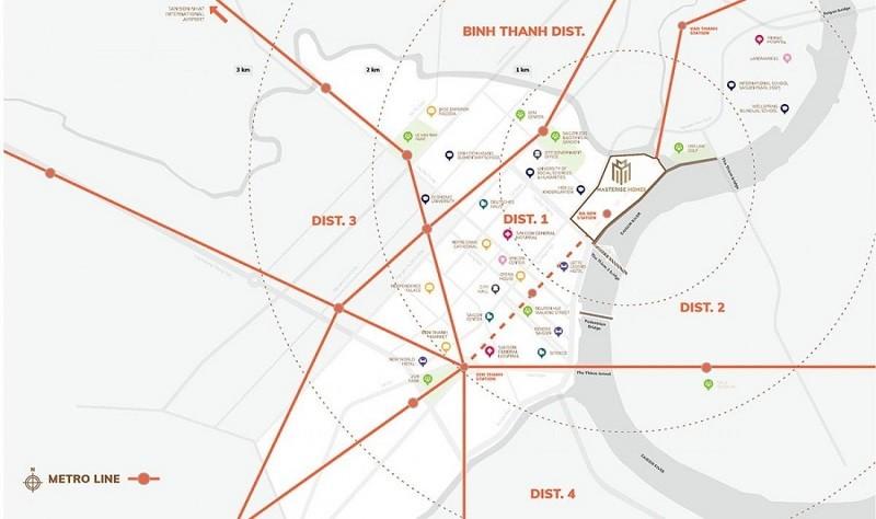 Dự án sở hữu mạng lưới liên kết khu vực chặt chẽ