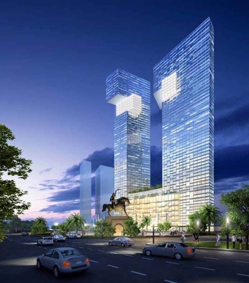 Các khối tháp xây dựng đẹp mắt mang dáng dấp của Rồng thiêng – Biểu tượng dân tộc Việt Nam