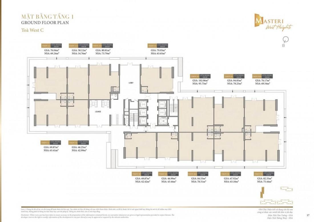 Chi tiết layout tầng 1 tòa tháp Z dự án