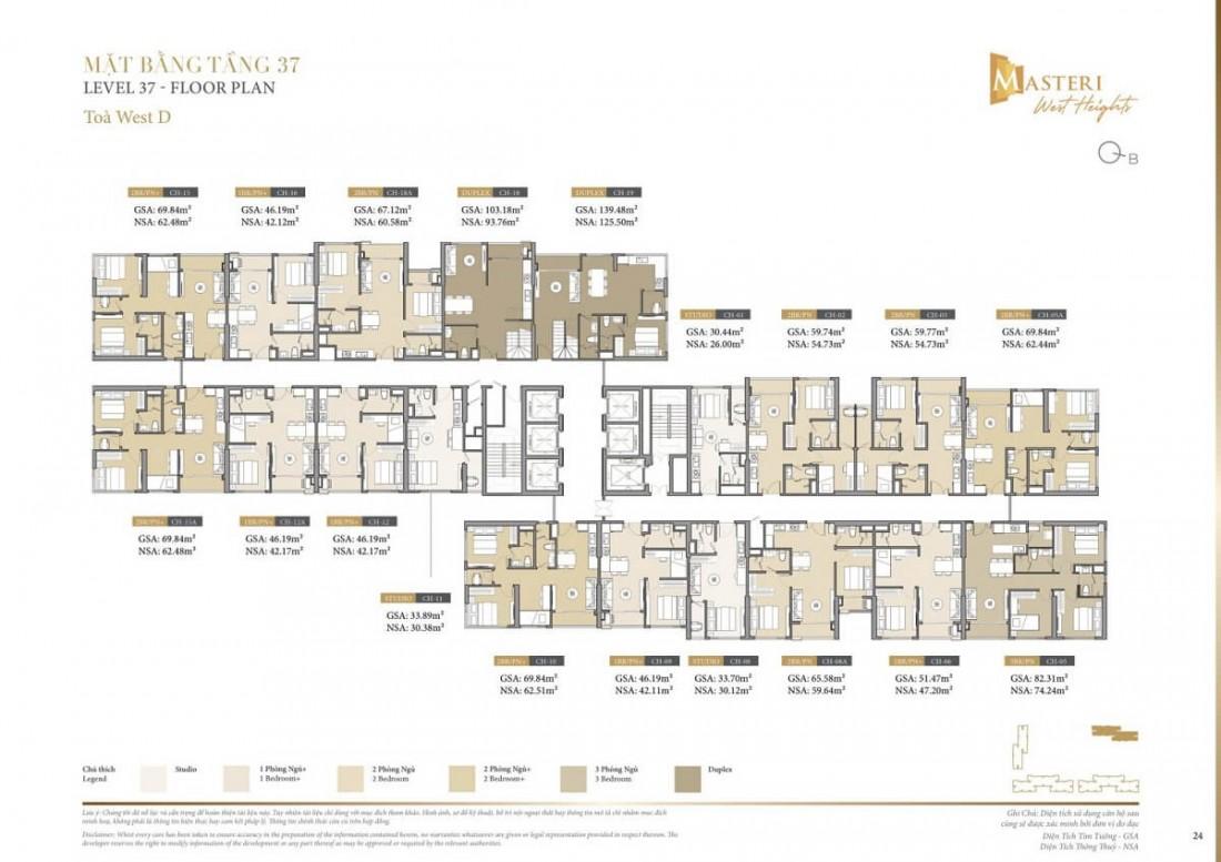 Chi tiết layout tầng 37 tòa tháp Z Block chung cư D