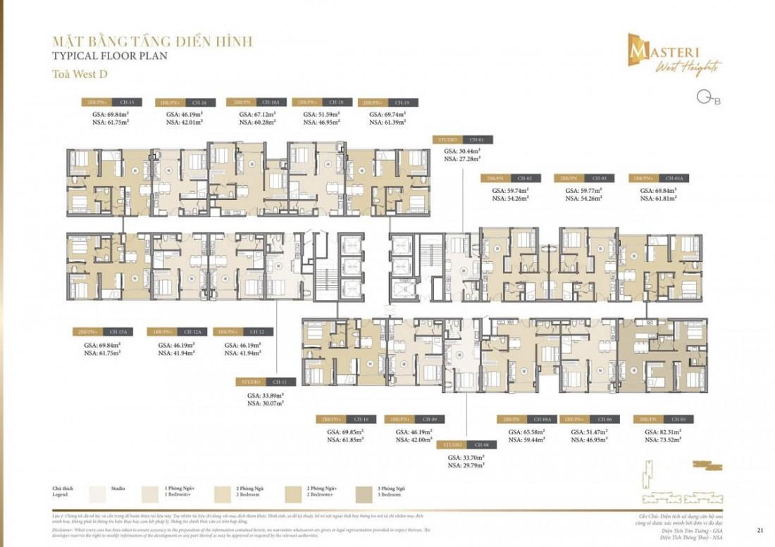 Chi tiết layout tầng điển hình trong tòa tháp Z dự án