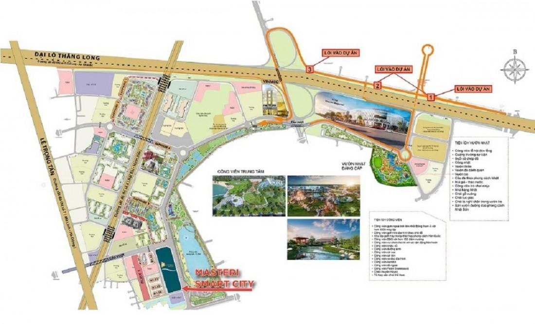 Masteri West Height nằm trong đại đô thị Vinhomes Smart City