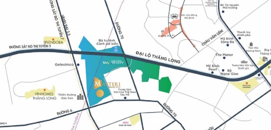 Nhiều tuyến đường lớn tại Masteri West Height